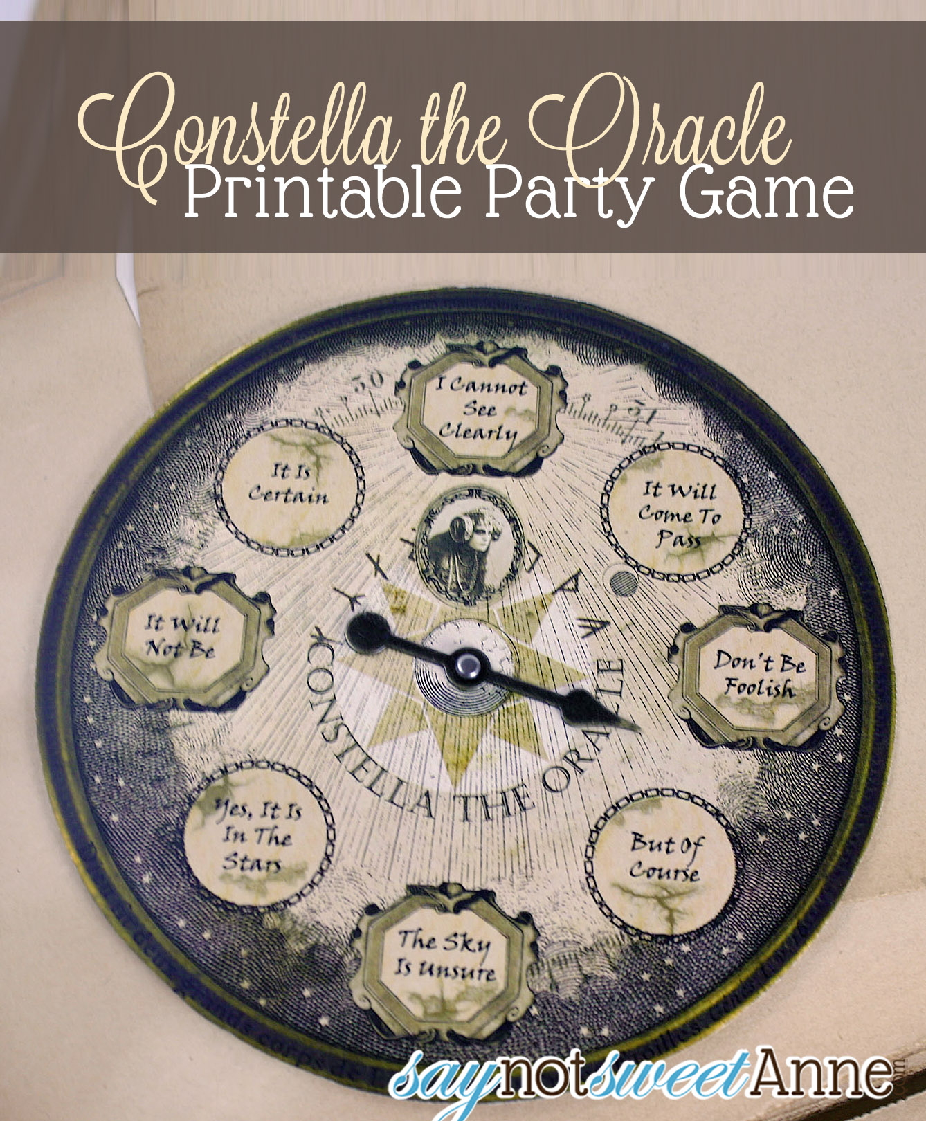 Oracle Printable Party Game - easy to print and put together! | saynotsweetanne.com | #halloween #party #spooky