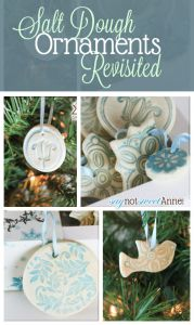 Beautiful Easy Salt Dough Ornaments - great for kids! | Saynotsweetanne.com | #Christmas #Kids #Ornaments #DIY