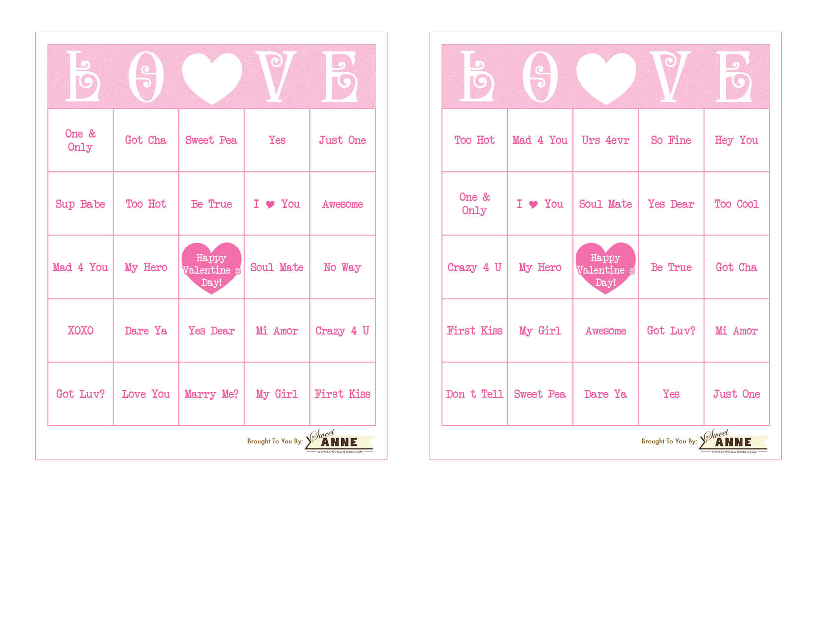 photo regarding Free Printable Valentine Games for Adults identified as Communication Centre B-I-N-G-O [No cost Valentine Bingo Printable