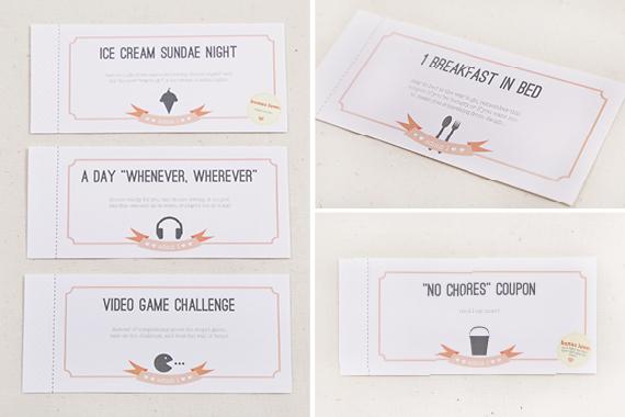B Wedding Invitations Coupons: Wedding Friends Printable Love Coupons Via Saynotsweetanne
