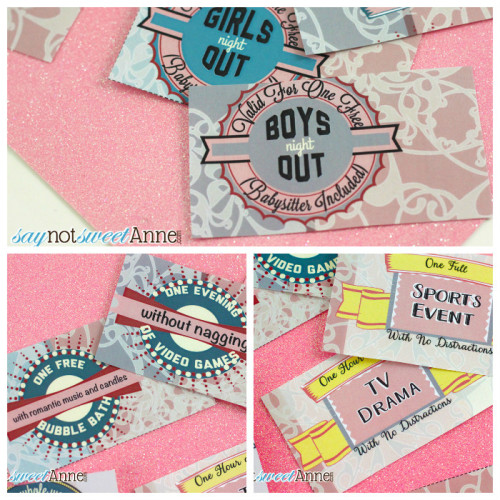 Free Printable Love Coupons from saynotsweetanne.com