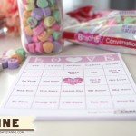 Printable Free LOVE Bingo - Use a bag of conversation hearts and this printable, enough cards for 10 people! | Saynotsweetanne.com | #valentine #game #classroom #bingo #printable