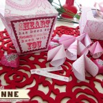 V-Day Printable Fortune Cookies & Box [Free Printable][Cutting File]