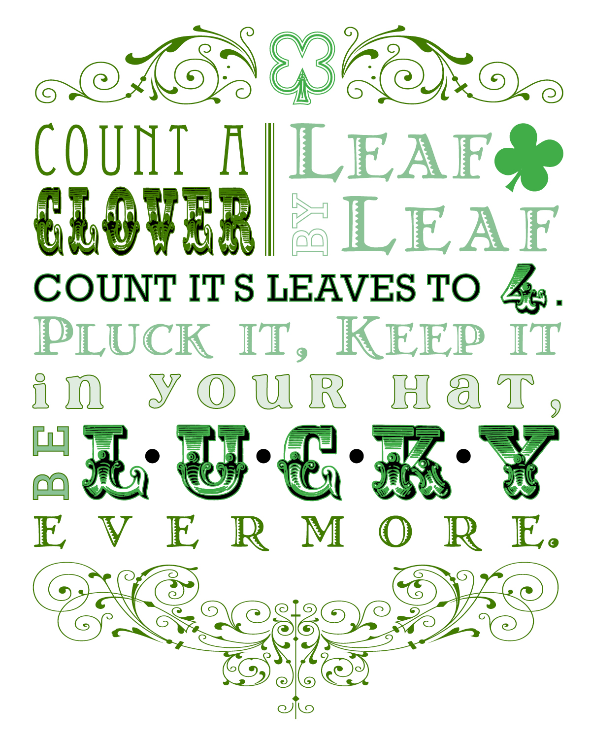 Lucky Art [Free Printable]. Click for more holiday #freeprintables