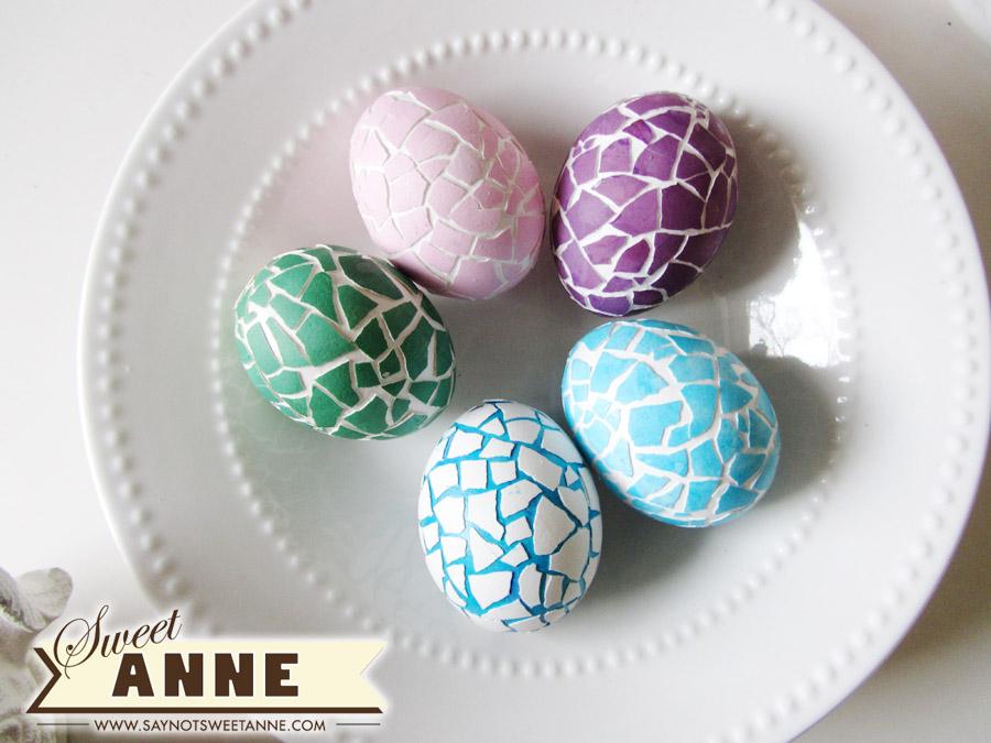Яйца в мозаику