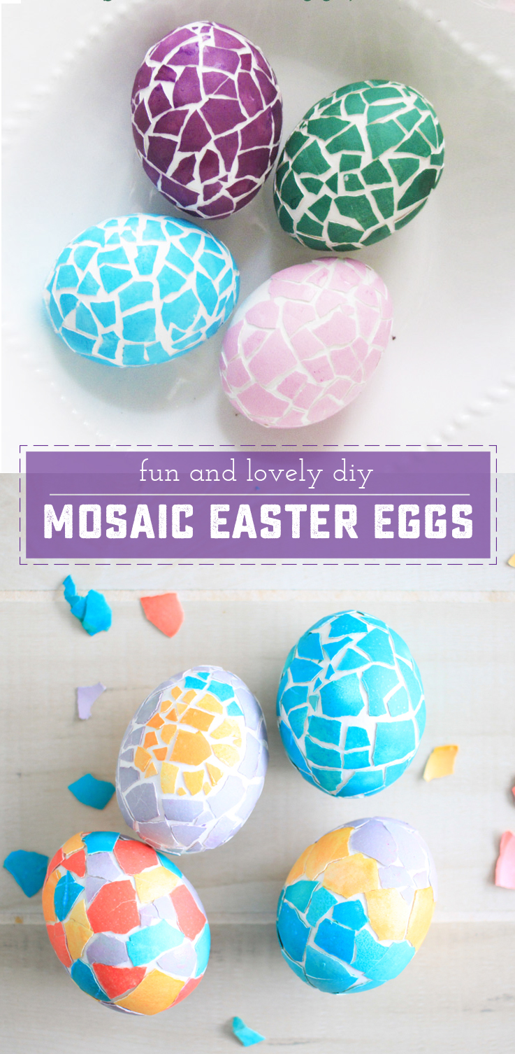 How To Make Beautiful Mosaic Eggs For Easter Sweet Anne Designs