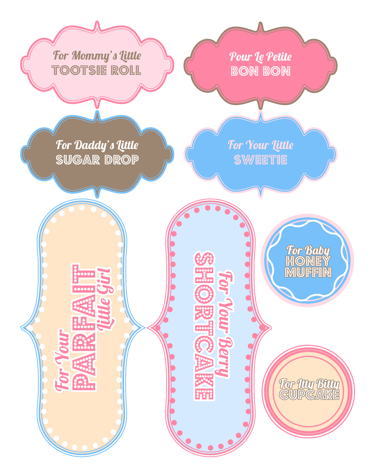 Baby Shower Gifts Free Printable Sweet Anne Designs - Cupcake name tag template