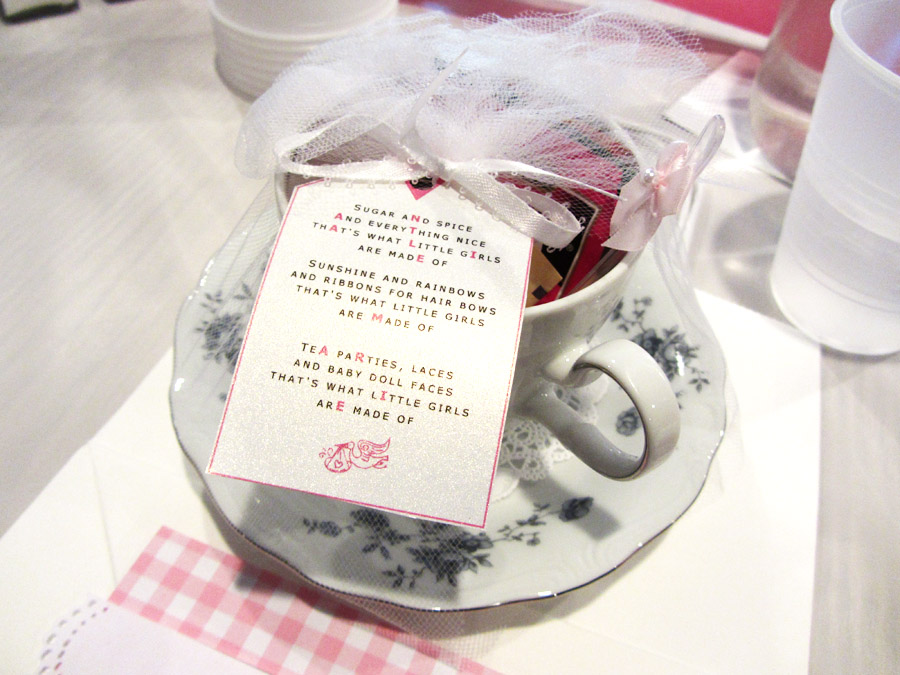 Baby shower favor - Teacup and saucer