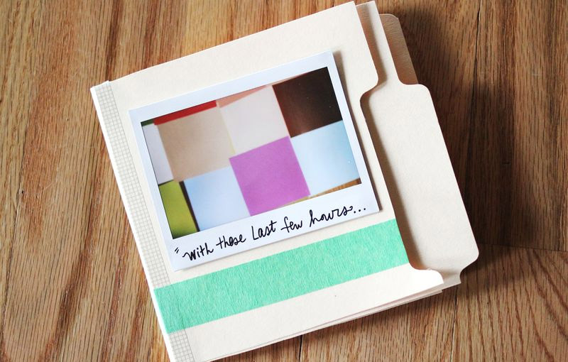 Song Lyrics Scrapbook
