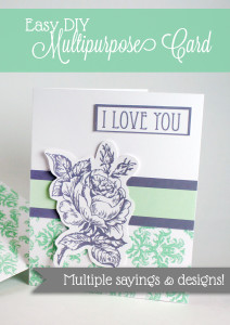 Free Printable Multi-Purpose Card! Lots of phrases, elements and designs to mix and match. Matching Envelope included! | saynotsweetanne.com | #father's #mother's #printable #card #green