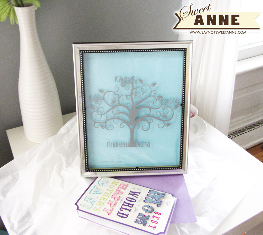 Mother's Day Family Tree Vinyl art