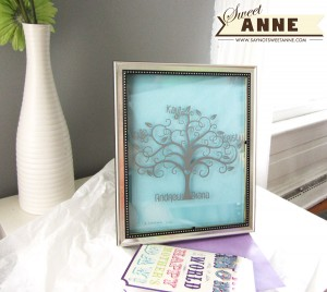 DIY vinyl Family Tree Art for Mother's Day