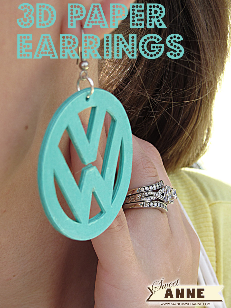 Paper DIY Earrings Volkswagen