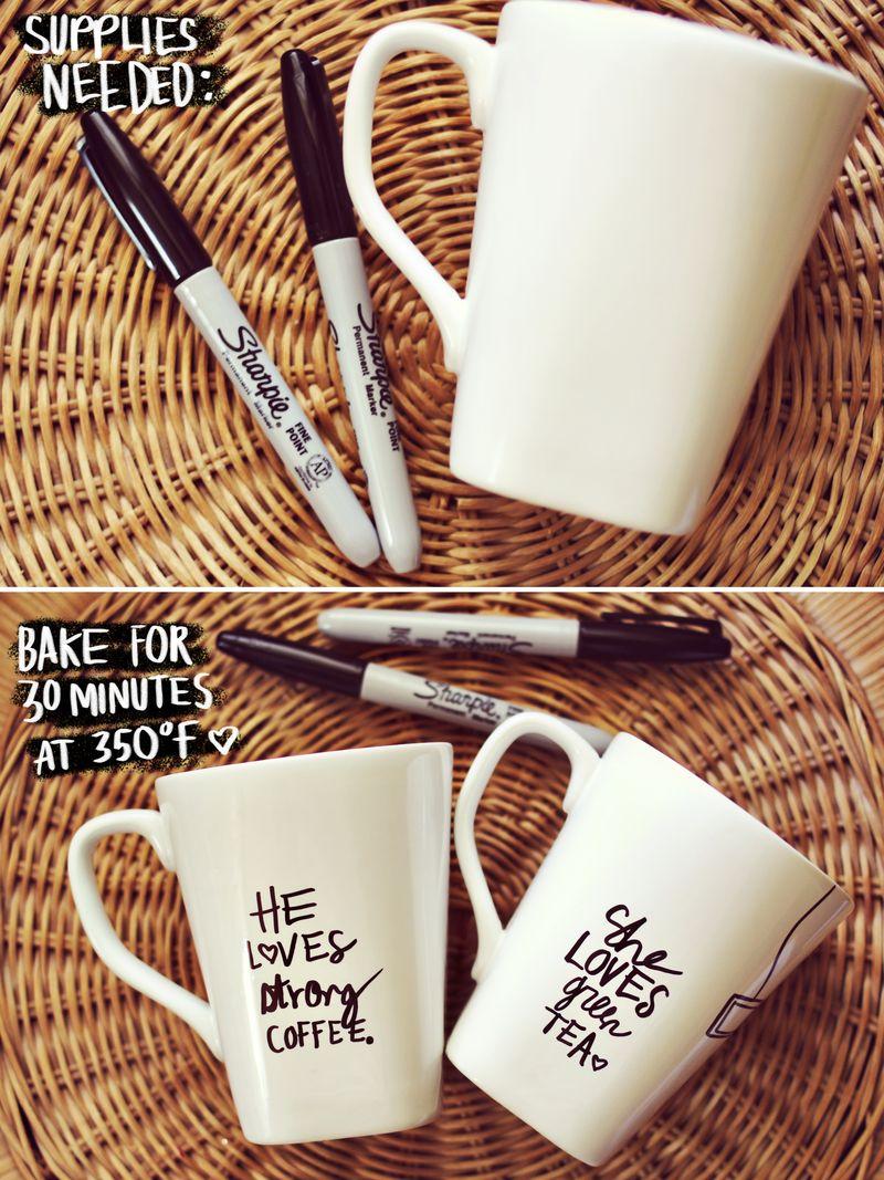 Sharpie decorate a mug