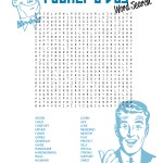 Printable Fathers Day Word search free