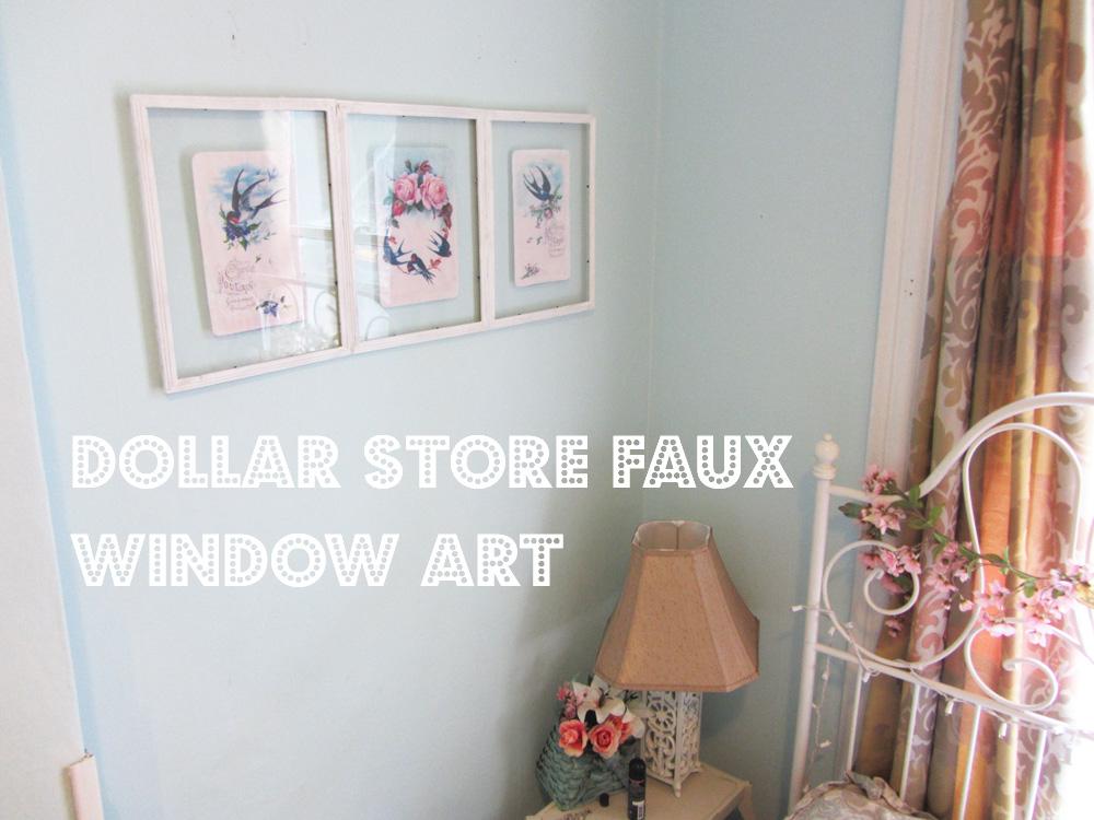 Faux Window picture wall art