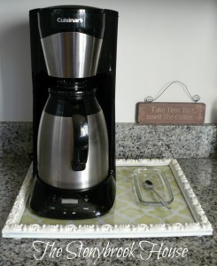 Kitchen organizer, tray, coffee tray