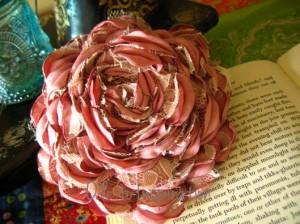 DIY Fabric Flower, DIY Satin Rose