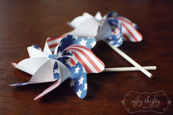 Fourth of July Pinwheel Free Printable