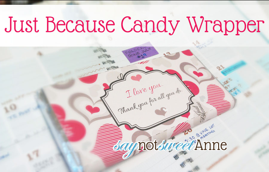 Valentine candy bar