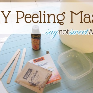 Make your own peeling mask