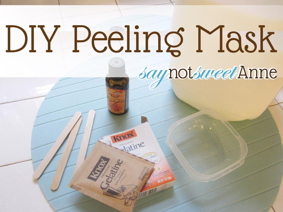 Make your own peeling mask