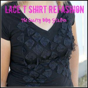 Lace t shirt refashion