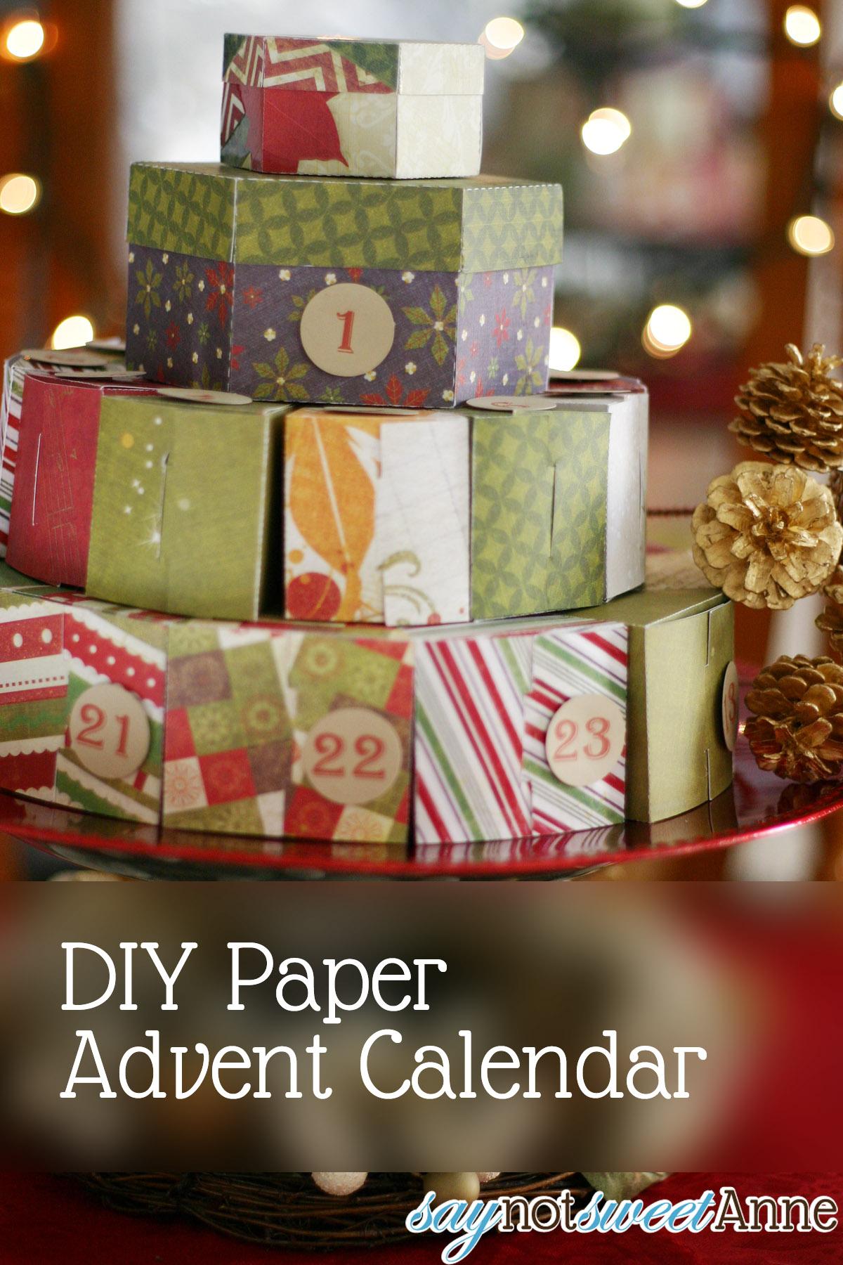 Diy Paper Advent Calendar Sweet Anne Designs