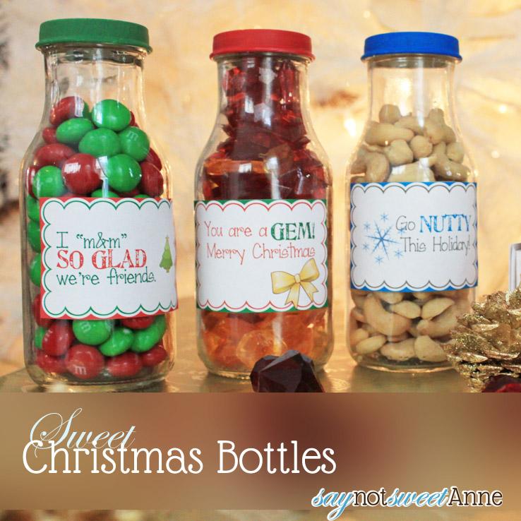 Sweet Christmas Bottles