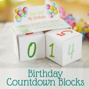 Birthday Countdown Blocks Free Printable by Saynotsweetanne.com