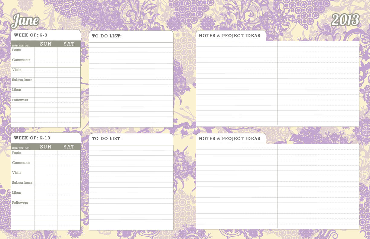 photo relating to Blog Planner Template identified as The Greatest Running a blog Planner [2013] - Cute Anne Types