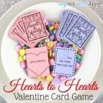 Hearts to Hearts, Printable Card Game at SayNotSweetAnne.com