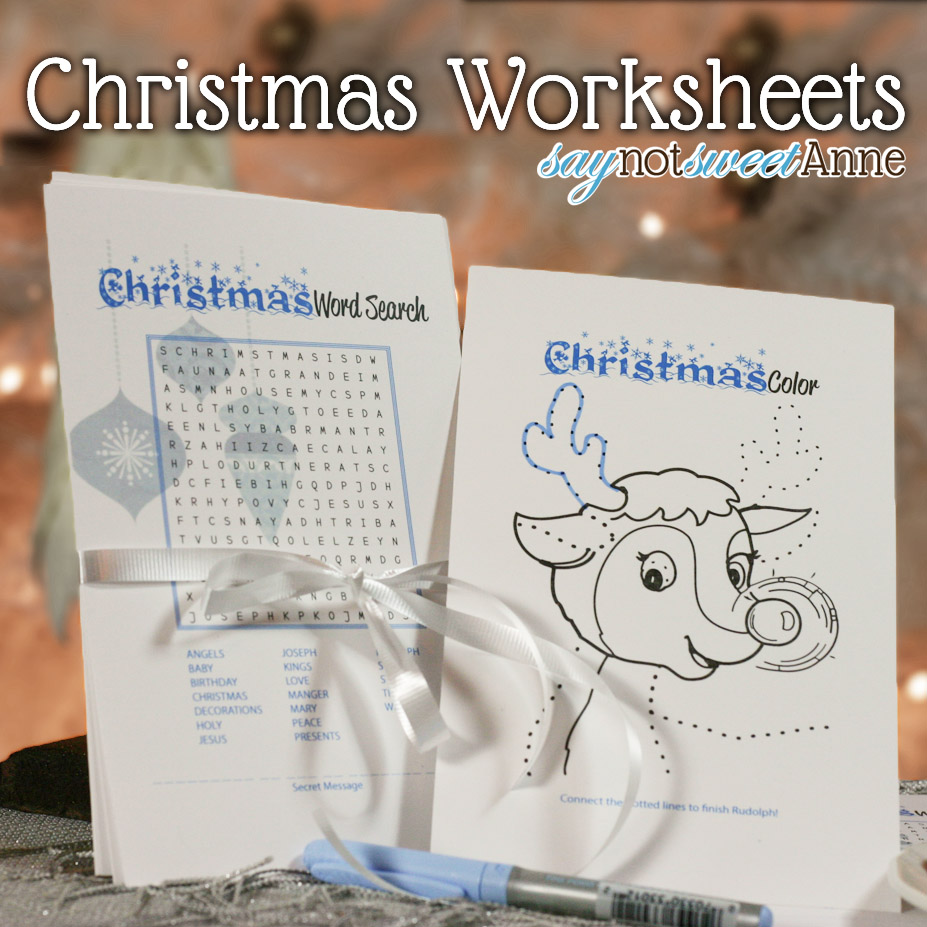 picture about Free Printable Holiday Worksheets titled Lovable Xmas Worksheets [Absolutely free Printable] - Cute Anne Strategies