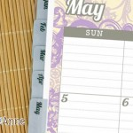 I used Avery printable tabs to make the monthly tabs. They come in all sorts of colors!