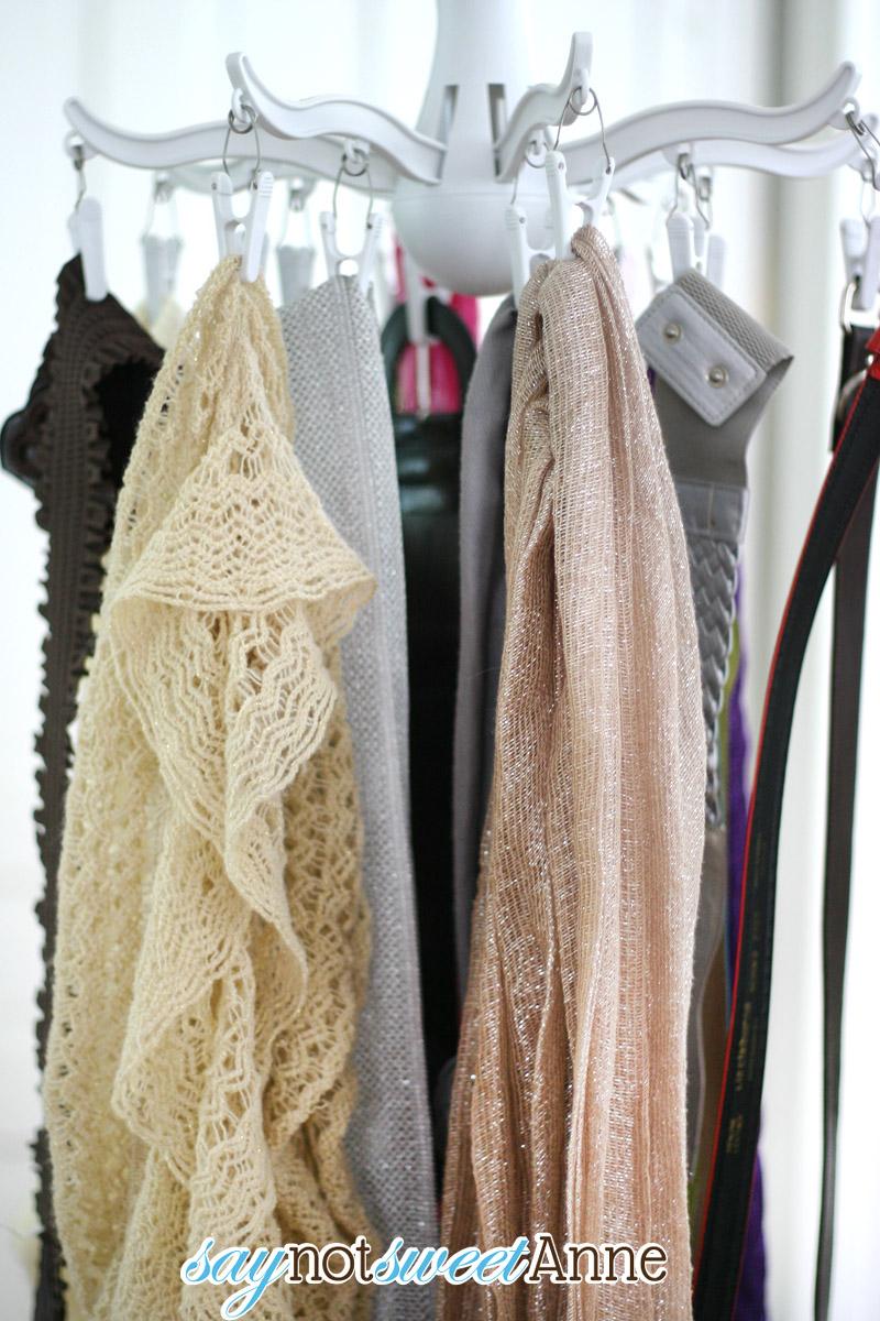 Tricksy tip thursday scarf and belt storage sweet anne for Ikea belt hanger