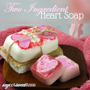 Two Ingredient Heart Soap
