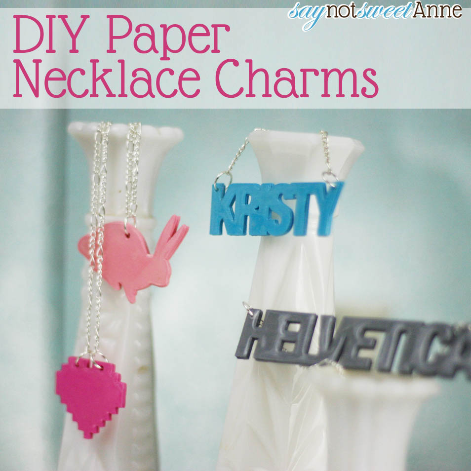 Make a cute 3d paper necklace