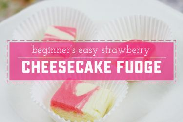 Easy and Almost Instant Strawberry Cheesecake Fudge! This recipe requires no candy thermometer, no boiling sugar, and has a rich creamy cheesecake flavor. | saynotsweetanne.com