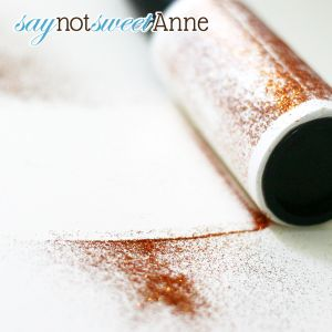 Triksy Tip: Clean up glitter with a sticky lint roller! For more tips, crafts, recipes and more visit saynotsweetanne.com!