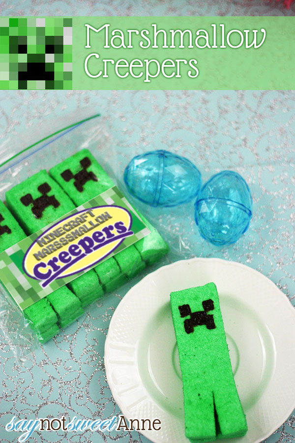 DIY Creeper Marshmallows at Saynotsweetanne.com