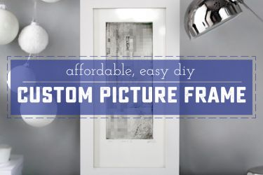DIY Affordable Custom Picture or Art Frame Tutorial. Using building supply materials and some tools from around the house, you can finally get that strange-shaped art or that oversized photo framed! |  Saynotsweetanne.com