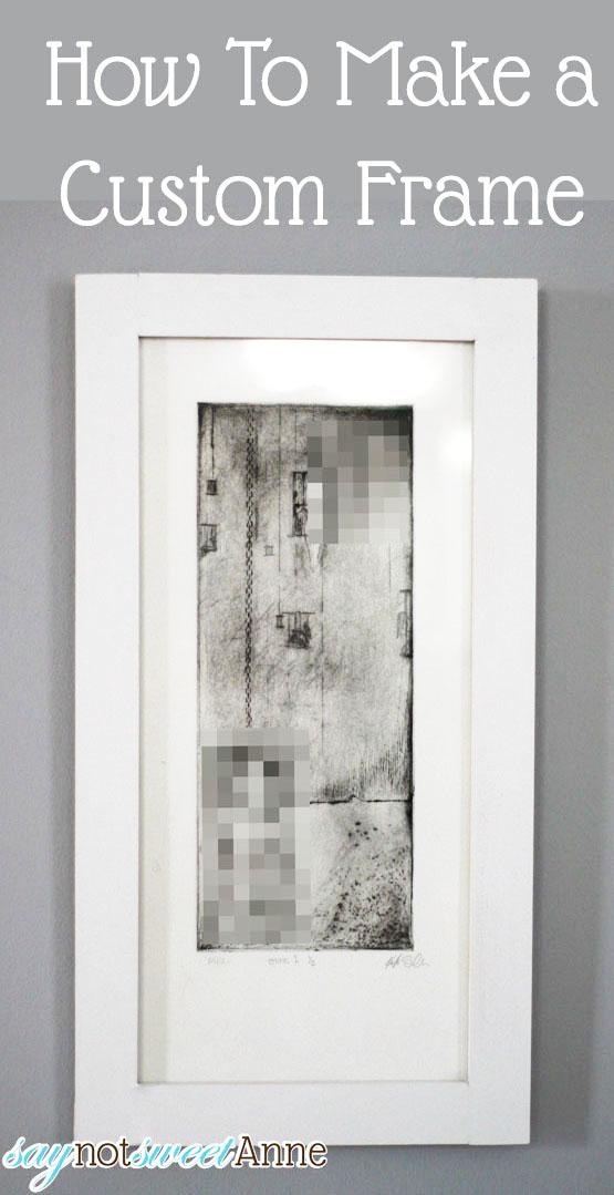 DIY Art Frame Tutorial at Saynotsweetanne.com