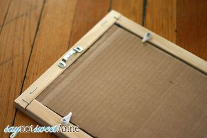MAke your own custome picture frame at saynotsweetanne.com
