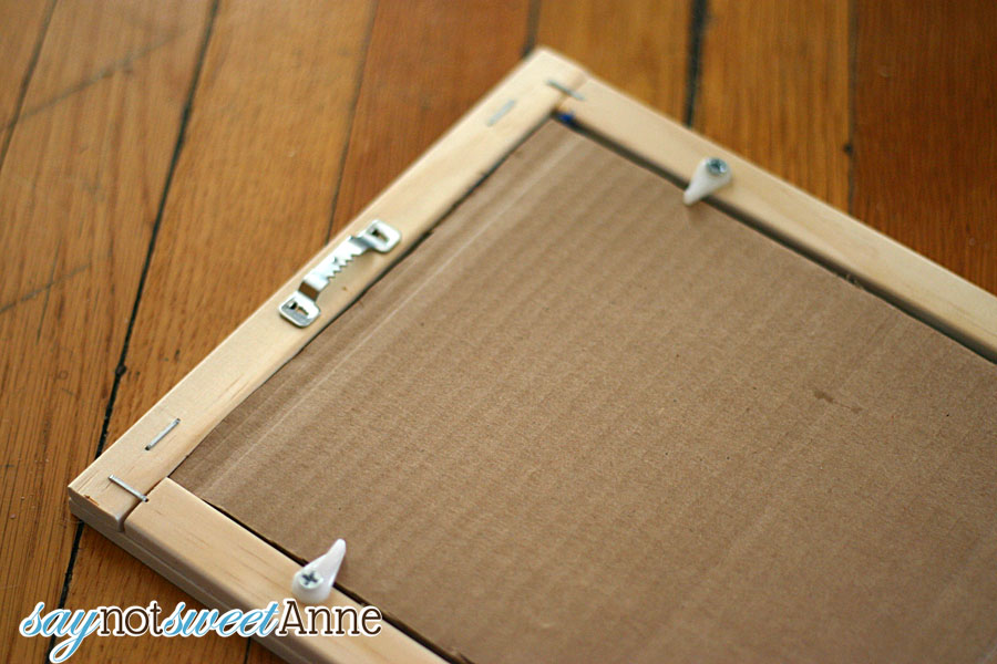 How to Build an Affordable Picture Frame - Sweet Anne Designs
