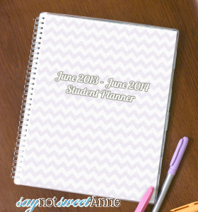 Printable Student planner - June to June- Saynotsweetanne.com