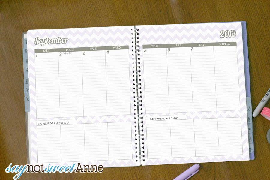 June To June Student Planner [2013 School Year] - Sweet Anne Designs
