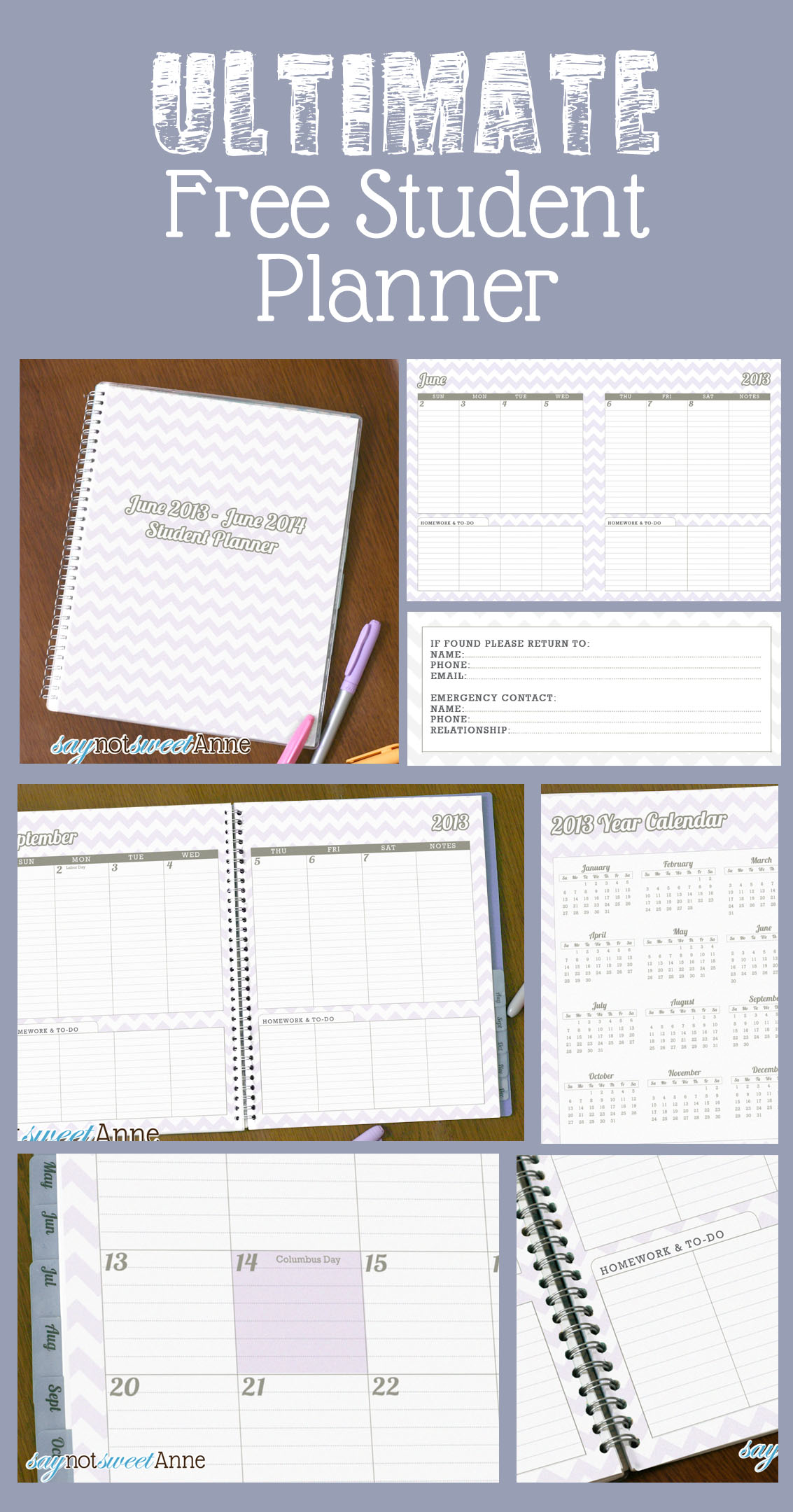 It is a photo of Candid Printable Academic Planner