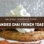Stunning Candied Chai French Toast