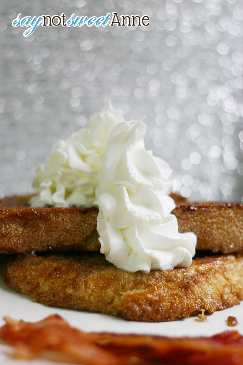 Candied Chai French Toast Recipe at Saynotsweetanne.com