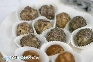 3 varieties of Cookie Dough Truffles - Easy and Quick!